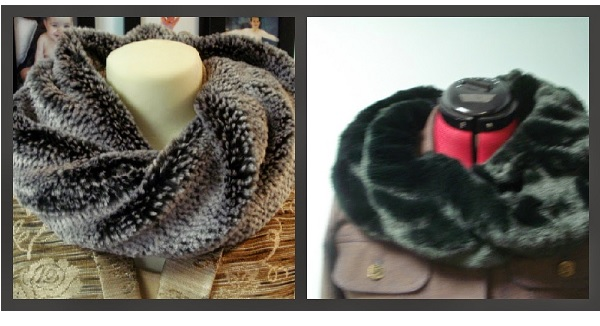 Tutorial: Twisted faux fur infinity scarf