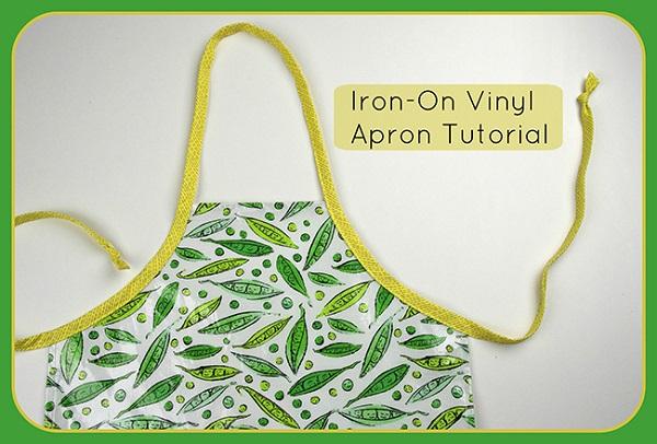 Tutorial: Iron-on vinyl kids apron