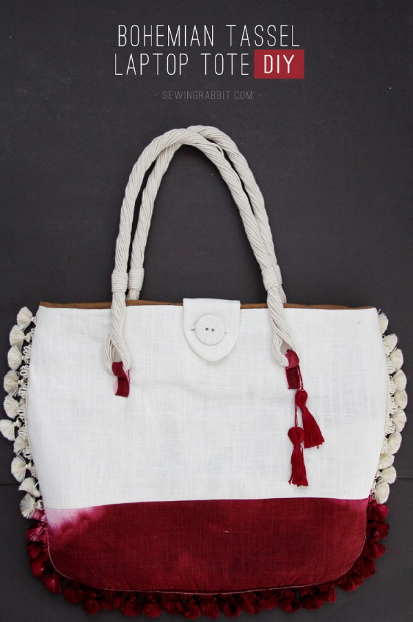 Tutorial: Bohemian Tassel Laptop Tote