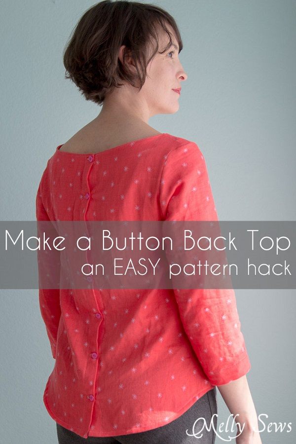 Tutorial: Button back blouse pattern hack