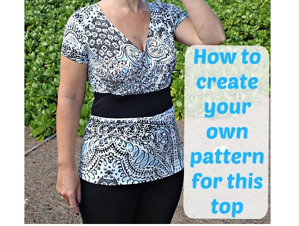 Video tutorial: Make a crossover top from a basic t-shirt pattern