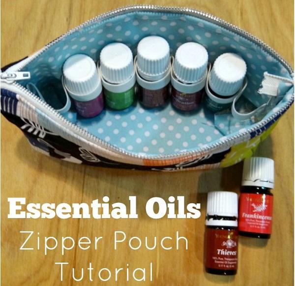 Tutorial Essential Oils Zipper Pouch Sewing