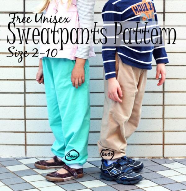 Free pattern: Kids unisex sweatpants