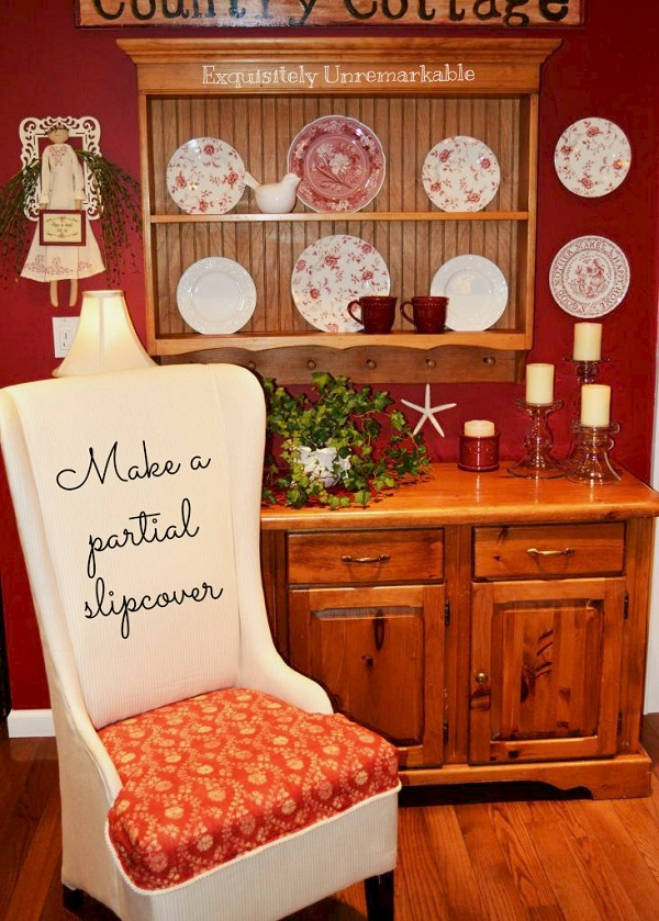 Tutorial: Make a partial chair slipcover to cover a worn seat
