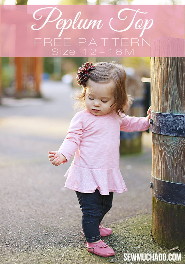 Free pattern: Baby girl peplum top