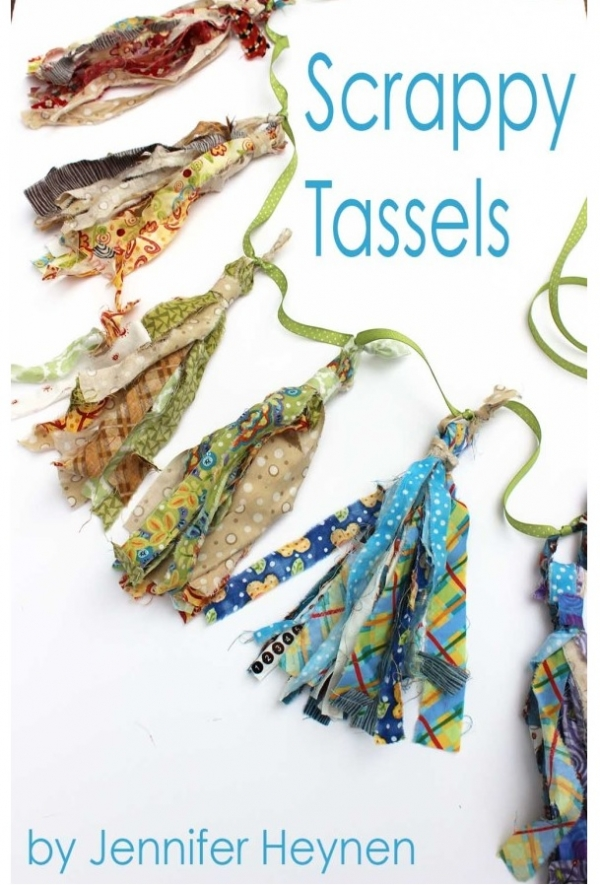 Tutorial: Scrappy fabric tassels, no sewing required