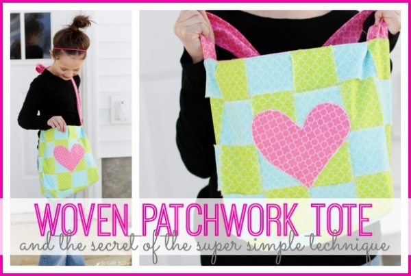 Tutorial: Woven patchwork tote bag