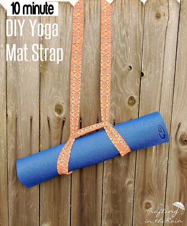 Tutorial 10 Minute Yoga Mat Strap Sewing