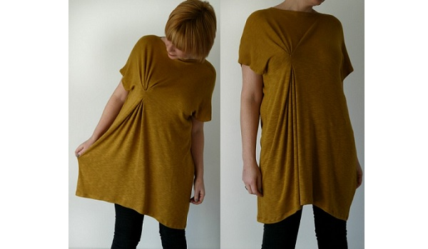 Tutorial: Asymmetric pleated tunic