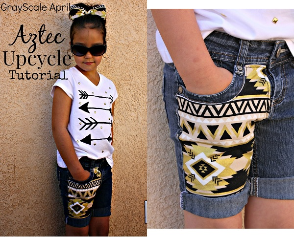 Tutorial: Embellished shorts and t-shirt outfit