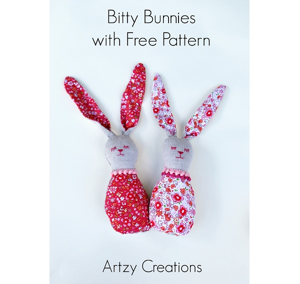 Free pattern: Bitty Bunnies softies