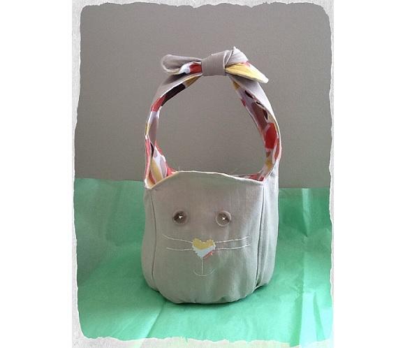 Free pattern: Bunny ear bucket bag