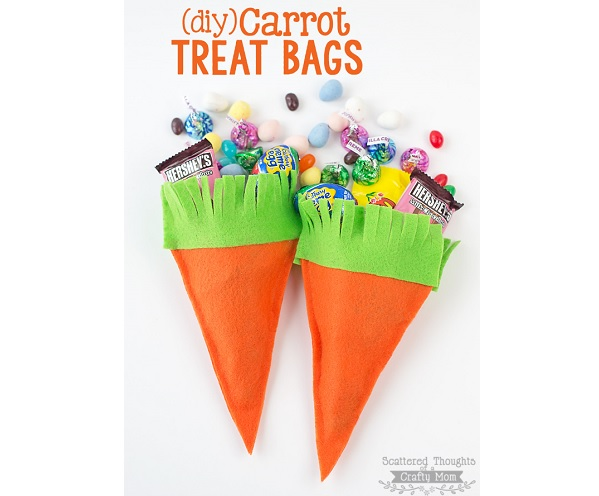carrot treat pouch easter felt pattern tutorial no sew felt carrot treat bags sewing 7487