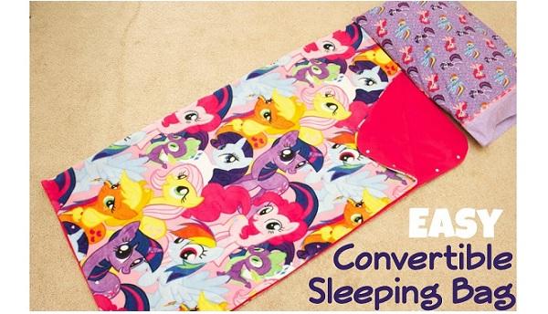 Tutorial: Convertible fleece sleeping bag and blanket