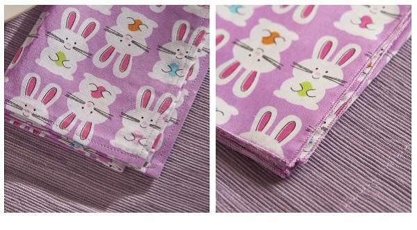 Tutorial: Fabric napkins made 2 ways