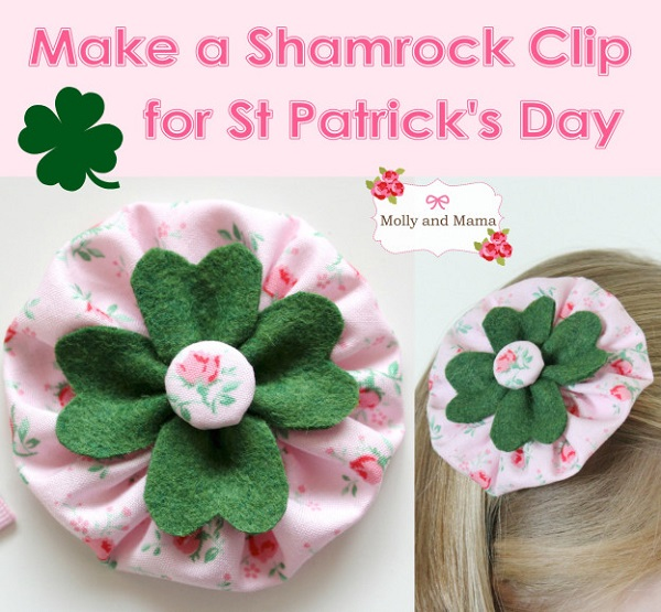 Tutorial: Shamrock hair clip
