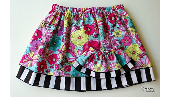 Tutorial: Layered skirts for a little girl and her doll