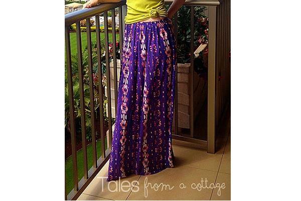 Tutorial: Sew a simple maxi skirt