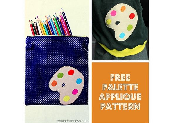 Free pattern: Artist's palette applique