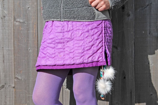 Tutorial: Make a snow skirt from a winter coat