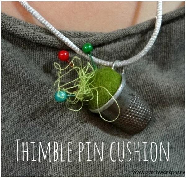 Tutorial: Thimble pincushion pendant