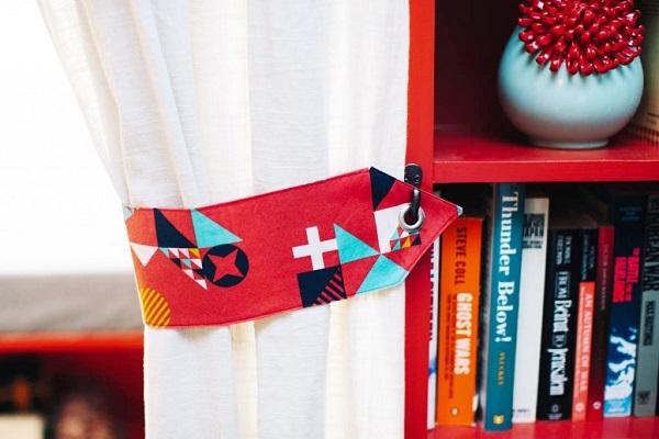 Tutorial: Grommet curtain tie backs