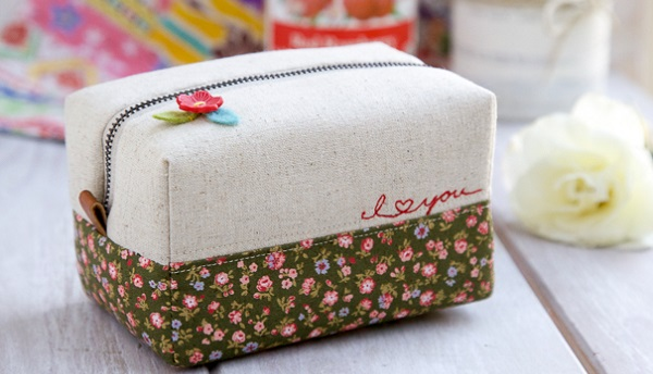 Tutorial: Boxy zippered pouch
