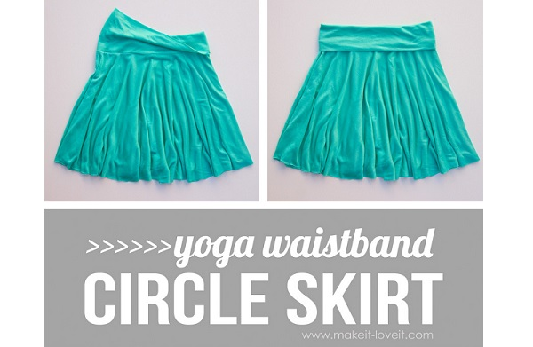 Tutorial: 30-minute knit circle skirt with a yoga waistband
