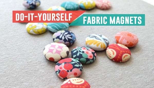 Tutorial: Scrap fabric magnets
