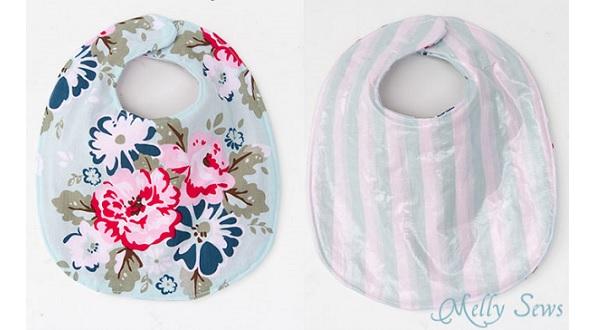 Free pattern Baby drool bib