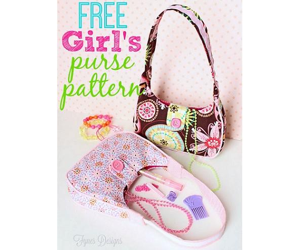 Free pattern Little girl's purse