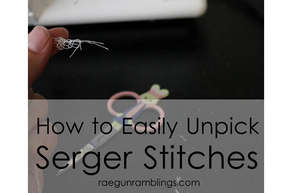 Tutorial: Easy way to unpick a serged seam
