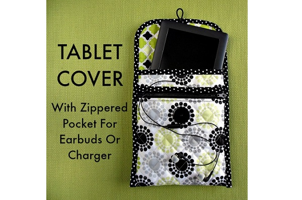 Tutorial: Tablet cover with a zippered pocket