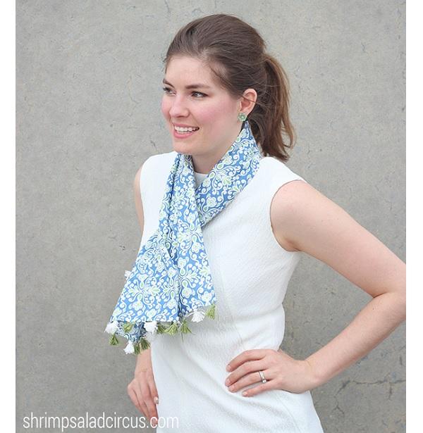 Tutorial: Spring tassel scarf