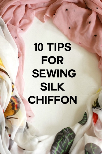 Tips for sewing silk chiffon