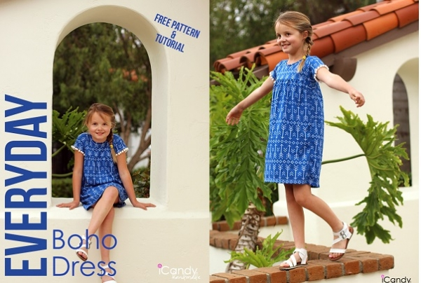 Free pattern: Girls Everyday Boho Dress