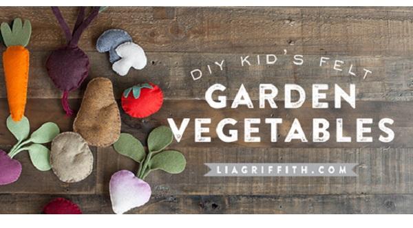 Free pattern: Felt garden vegetables
