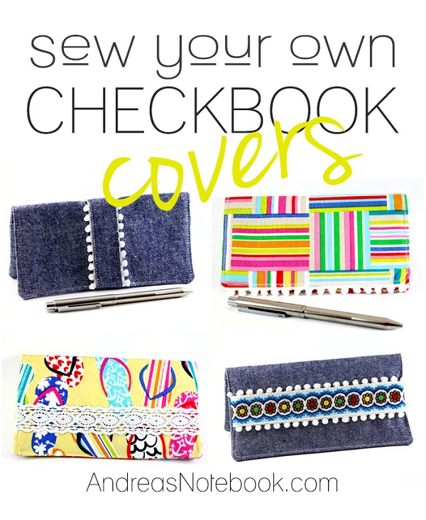 Sewn Book Cover Tutorial : Tutorial sew a simple checkbook cover sewing