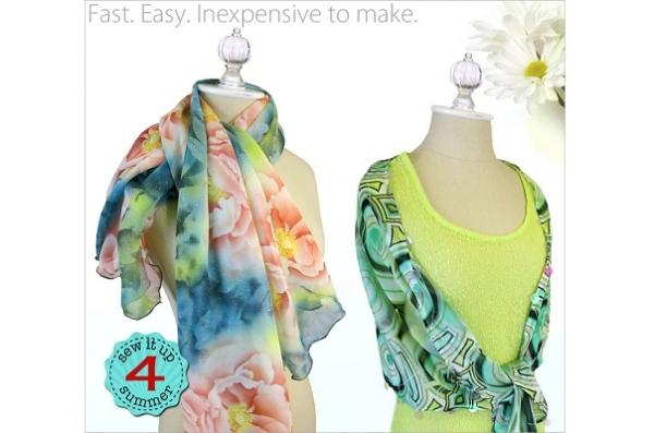 Tutorial: Chiffon scarves with rolled hem or sequin hem