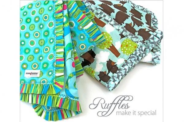 Tutorial: Ruffled Edge Baby Blanket