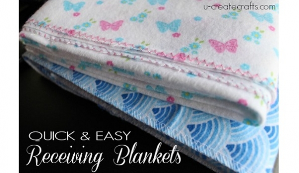 Video Tutorial Easy 2 Minute Receiving Blanket Sewing