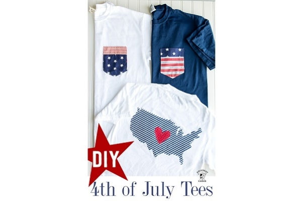 Tutorial: 4th of July pocket tees