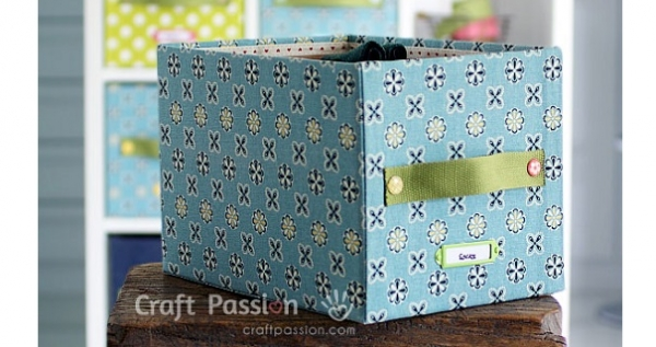 Tutorial No Sew Fabric Covered Storage Boxes Sewing