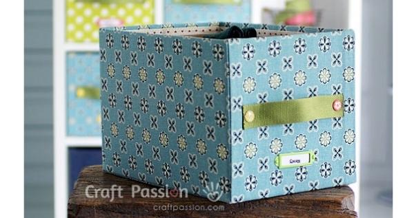 Tutorial No-sew fabric covered storage boxes & Tutorial: No-sew fabric covered storage boxes u2013 Sewing Aboutintivar.Com