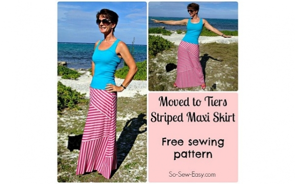 Free Pattern: Moved to Tiers striped maxi skirt