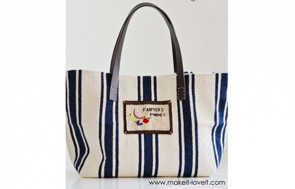 Tutorial: Faemer's market tote from an inexpensive rug