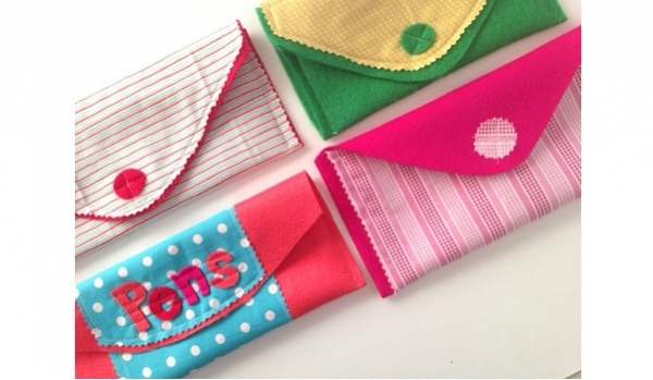 Tutorial: Easy felt and fabric stationery pouches
