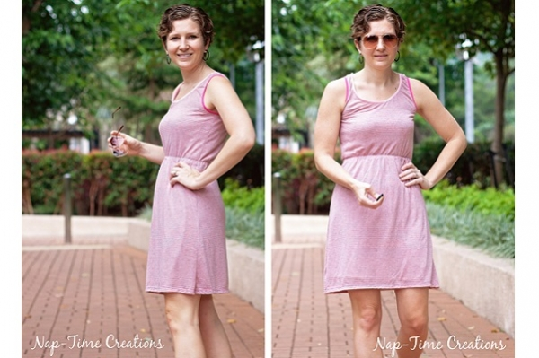 Free pattern: Women's simple summer tank dress