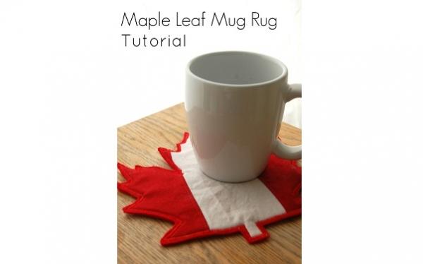 Tutorial: Maple leaf mug rug for Canada Day