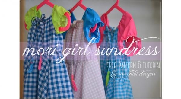 Free pattern: Mori Girl Sundress for little girls